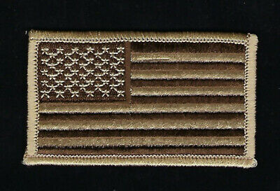 Us Flag Desert Tan Brown Camo Hat Patch Us Army Marines Navy Air Force Pin Up