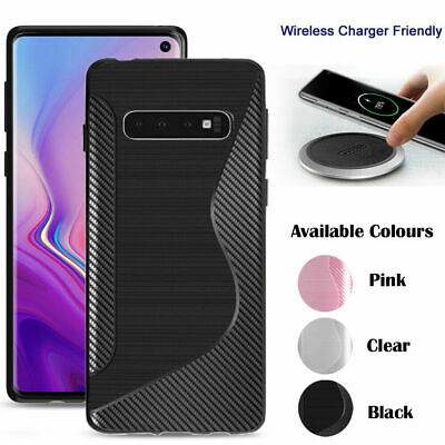 Case For Samsung Galaxy S10 S10 Plus Luxury Silicone Carbon Fiber Ultrathin Covr
