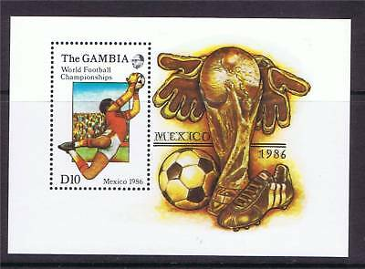 Gambia 1986 World Cup MS SG 649 MNH