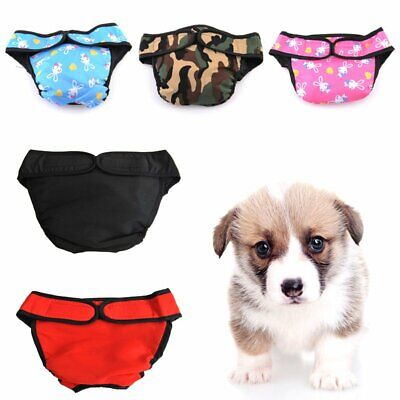 S-XL Dog Pet Female Nappy Diapers Shorts Underpants Sanitary Pants Undies WS