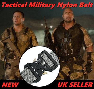 Tactical Military Nylon Belt Strong Combat Army Quick Release Buckle Belt Mens