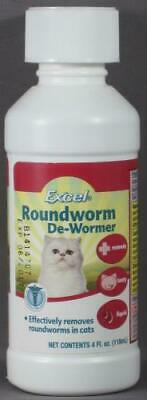 Brand New 2PK Excel Roundworm De-Wormer for Cats -  4 oz.