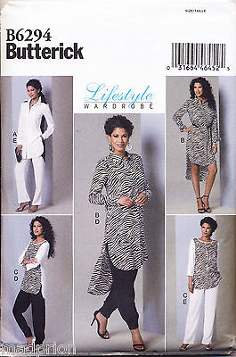 Butterick Sewing Pattern 6294 Misses Sz 16-24 Tops/Tunics & Pants In Plus Sizes