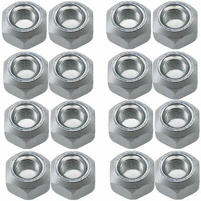 Pack of 16 M10 Conical Trailer Wheel Nuts for Suspension Hub M10x1.25 Thread