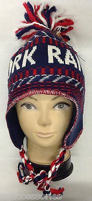 NHL New York Rangers Winter Classic 2012 Knit Tassel Aviator Hat Cap NEW