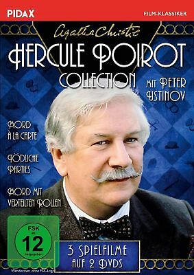 2 DVDs * AGATHA CHRISTIE - HERCULE POIROT COLLECTION - 3 FILME USTINOV # NEU OVP