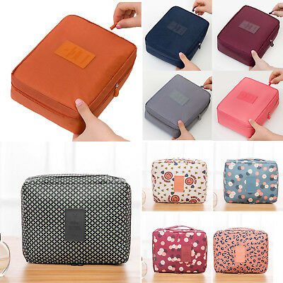 Travel Zipper Cosmetic Makeup Toiletry Case Wash Organizer Storage Pouch Bag