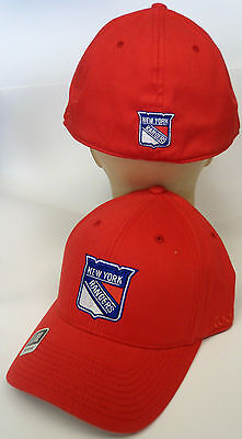 NHL New York Rangers Reebok Berretto Cappello Flex Fit Autentico Serie  Platinum 20a3847fa34a