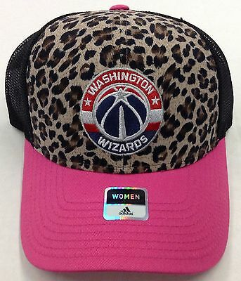 Collezionismo Sportivo Nba Washington Wizards Adidas Donna Leopardato Rete Snap Back Cappellino #vw73z Pallavolo E Basket