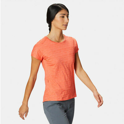 Mountain Hardwear Damen Mighty Gestreift Langarm Shirt Top Orange Sport Outdoor Damen