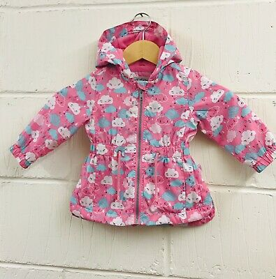 Baby Girls Pink Clouds Parka Coat/Jacket.Aged 6-9 Months.Mothercare.!!xx!!!