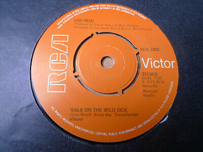 """LOU REED Walk On The Wild Side / Perfect Day 7"""" RCA Victor RCA 2303"""
