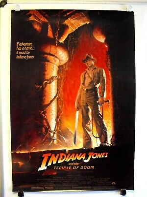 INDIANA JONES and the TEMPLE OF DOOM Movie POSTER Harrison Ford RAIDERS ARK #2