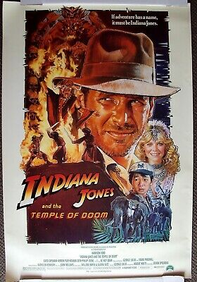 INDIANA JONES and the TEMPLE OF DOOM Original POSTER Harrison Ford RAIDERS ARK