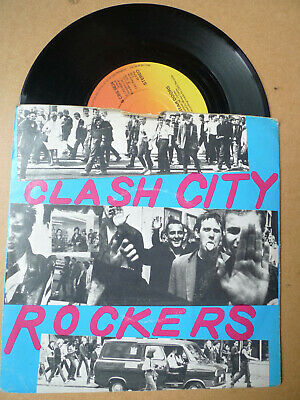 """THE CLASH Clash City Rockers 7"""" CBS 5834 Picture Sleeve"""