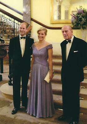Postcard of Prince Edward & Sophie, Earl & Countess of Wessex, & Prince Philip