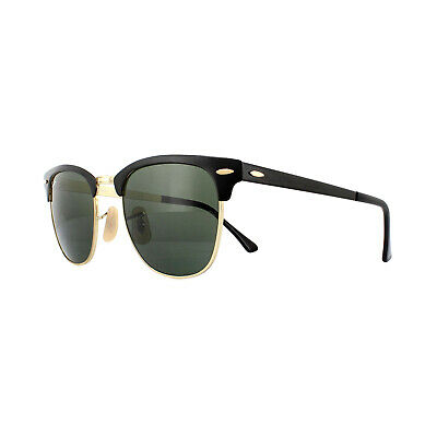 c10ade596 Ray-Ban Sunglasses Clubmaster Metal RB3716 187 Gold Top On Black Green