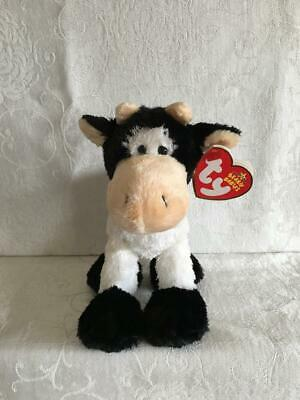 NEW Ty Beanie Baby Mooosly the Cow Holstein MINT w  MINT Tags Retired Plush  Toy 0ee4141898c7