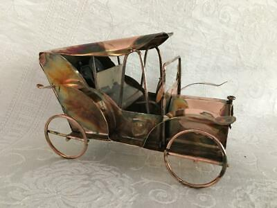 Mini Musical Metal Sculpture Antique Car Rolls Royce Happy Days Are Here Again