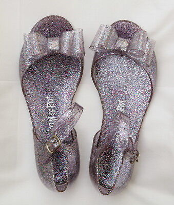 Miss Riot - Silver Jelly Glitter Sparkle Girls Party Shoes