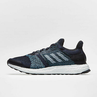 b66afadd58e adidas Mens Ultra Boost ST Parley Running Shoes Sports Trainers Black