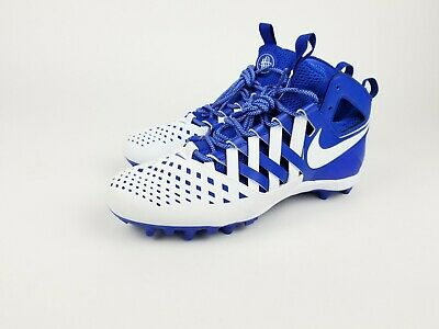 new style fc2dd b7908 Nike Huarache V Elite Lacrosse LAX Cleats Blue White 807142-411 Mens 12.5