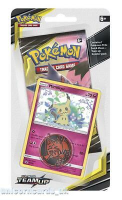 Pokemon TCG: Sun & Moon: Team Up Checklane Blister Pack: Mimikyu Promo Card + Bo