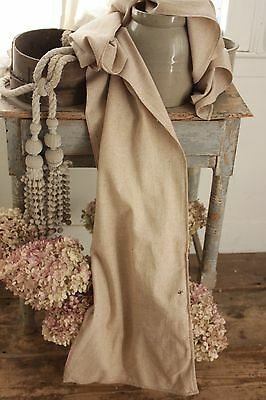 Scarf Antique 19th century wool & cotton fabric shepherd wrap French clothing