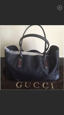 d5fd722da7 NWOT GUCCI JACKIE Soft Pebbled Leather Blue Medium Tote Handbag ...