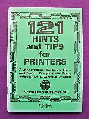 Letterpress Printing Adana 121 HINTS AND TIPS FOR PRINTERS Comprint Litho aswell