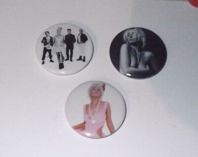 WENDY JAMES TRANSVISION VAMP - 3 x BADGES * NEW * D PIN 25mm