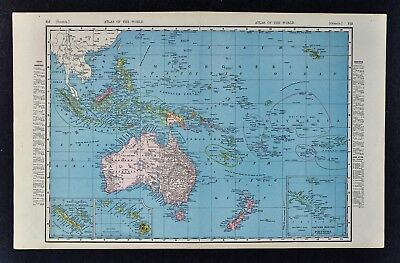 1892 McNally Map - Oceania - Australia New Zealand Hawaii Cook Marquesas Islands