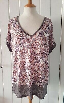 Laura Ashley Size 14 Top floral vintage LINEN *new with tags* spring summer pink