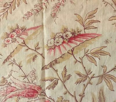 BEAUTIFUL MID 19th CENTURY FRENCH LINEN COTTON INDIENNE, PARASOL FLOWERS 157.