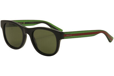 1a9c248f90e GUCCI MEN S GG0003S GG 0003 S 002 Black Green Red Fashion Sunglasses ...
