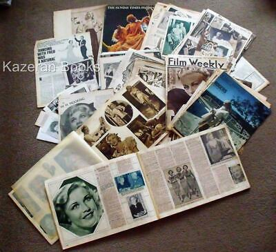 Vintage Ginger Rogers Large Collection Of Newspaper Magazine Clippings 1930's &c