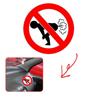 1x Reflective Text Word No Farting Funny Decal Car Sticker Auto Decoration PET