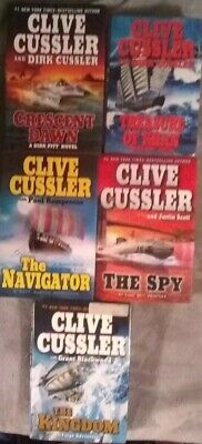 Lot of 5 Hardback Books by Award Winning Author Clive Cussler