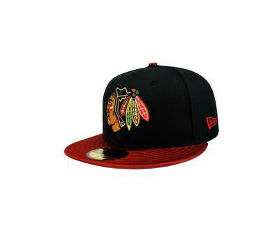 e00537d82 New Era 59Fifty NHL Cap Chicago Blackhawks Team Class Up Black Red Fitted  Hat