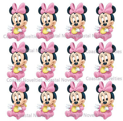 Disney Cake Toppers Baby Minnie Mouse Cupcake Toppers Edible Image