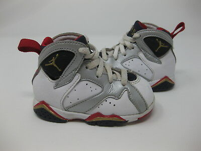 0676808aed4b8d Nike Air Jordan Vii 7 Retro Td Olympic White Gold Blue Toddler 304772-135 4C