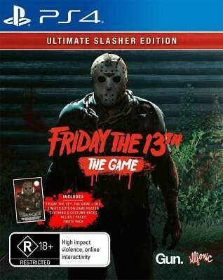 Friday the 13th Ultimate Slasher Edition PS4 Playstation 4 Brand New Sealed