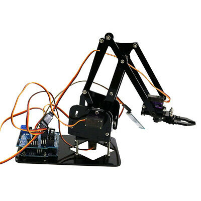 4 Axis Acrylic Robot Robotic Mechanical Gripper Arm Kit For Arduino