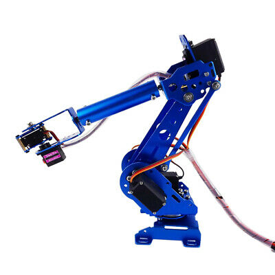 6 Axis Stainless Steel Robot Robotic Mechanical Gripper Arm Kit For Arduino