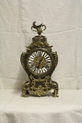 Tabletop Clock Inlaid At Charles Boulle, Period Nineteenth Century / Watch