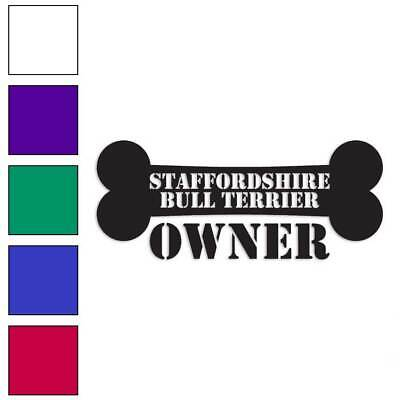 Size #2016 Staffordshire Bull Terrier Decal Sticker Choose Color