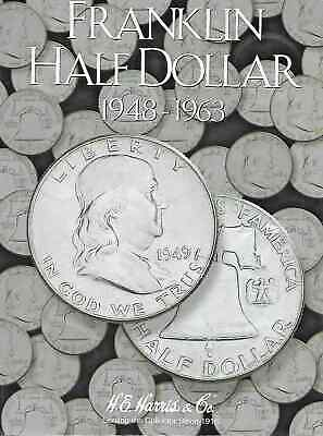 Complete Set Franklin Half Dollars, 36 coins in Exc. Cond. in a Harris Folder
