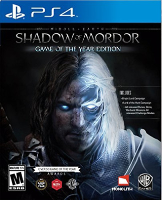 Middle Earth: Shadow of Mordor GOTY Edition PS4 Playstation 4 Brand New Sealed