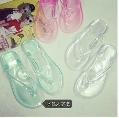 a695c7229 Women s Clear Transparent Flip Flops Sandals Beach Casual Slippers Shoes  Flats