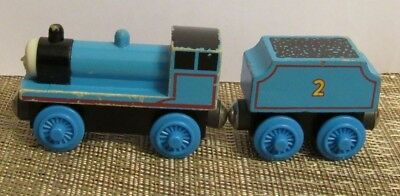 Thomas Friends Wooden Railway Edward And Flat Tender Train Car Used